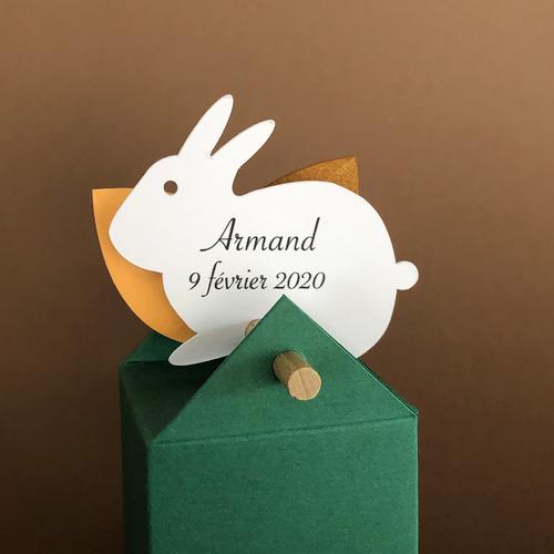 Etiquette lapin personnalisée