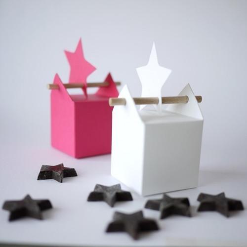 Kit Etoile Mono ou Bi-colore : boîte à dragées et étiquette