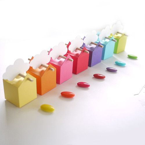 7 Boites à dragées Nuages et Rainbow