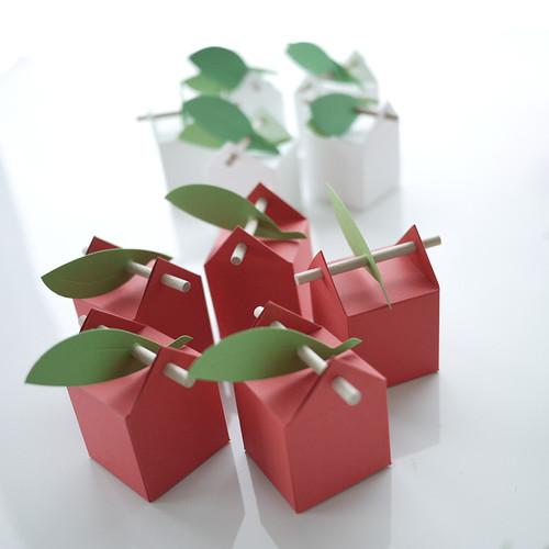 Boîte à dragées tourillon rouge