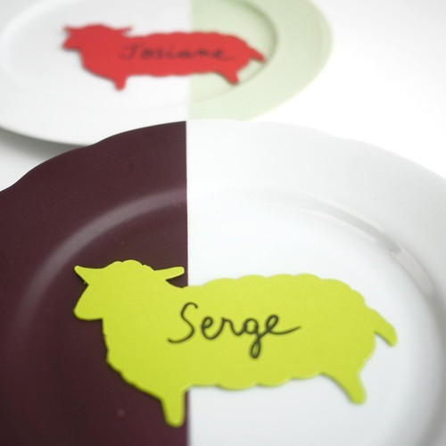 Mouton ou agneau de décoration et marque-place