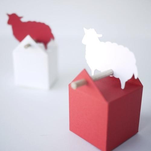 Etiquette Mouton ou Agneau en papier