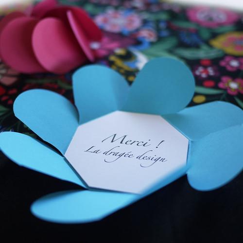 Feuillet imprimé pour petite Carte Fleur