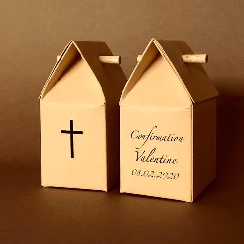 Boîte à dragées personnalisée Comme une église