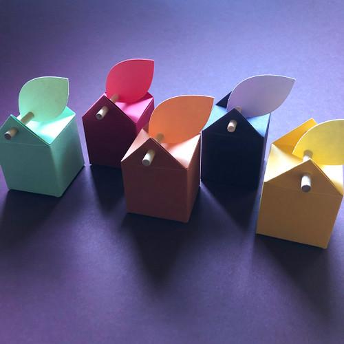 Boîtes à dragées dans les couleurs de l'automne