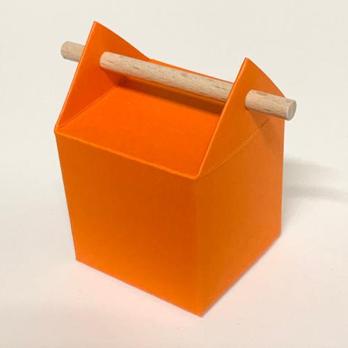 Boîte à dragées orange