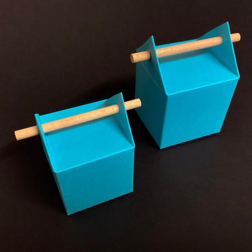 Boîte à dragées tourillon couleur turquoise, taille classique et taille XL