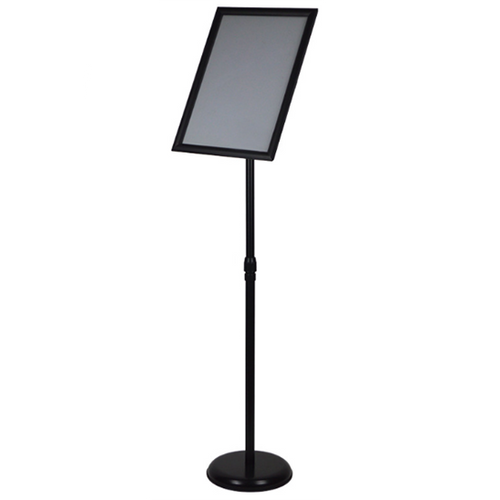 A2 / A3 / A4 Floor Poster Display / Snap Frame Stand Foyer Pedestal / Adjustable Height Sign Holder Menu Black