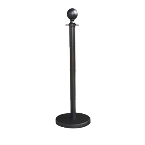 3x Queue Barriers + 2 Ropes Crowd Control Bollards Stands (Black WITH BLACK ROPE)