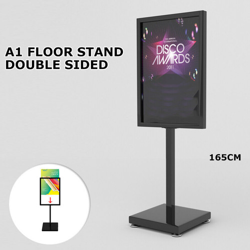 A1 Double Sided Sign Floor Stand Frame Poster Stand Display Stands BLACK