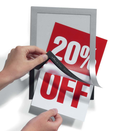 Windows Display Poster Sign holder Double Sided Adhesive Magnetic A2 A3 A4 A5