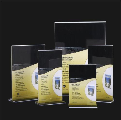 DL A5 A4 A3 Size Double Sided Sign Holder Acrylic
