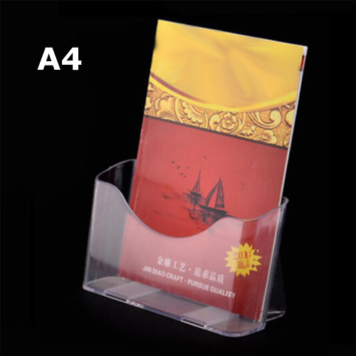 A4 Wall Mount Table Top Brochure / Pamphlet Holder Display Free Standing