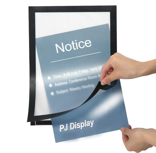 Windows Display Poster Sign holder Full back Adhesive Magnetic A2 A3 A4 A5  Black