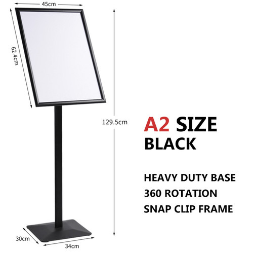 A2 Sign Floor Stand Frame Poster Stand Display Stands BLACK