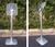 Literature Holder Floor Stand Portrait Format Aluminium Landscape Portait