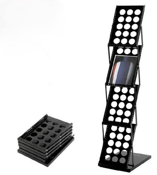 Premium Portable A4 Brochure Holder / Literature Display Stand / Catalogue black