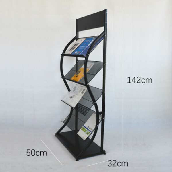 Multi-Layers Magazine Stands Brochure Holder Rack Display -8