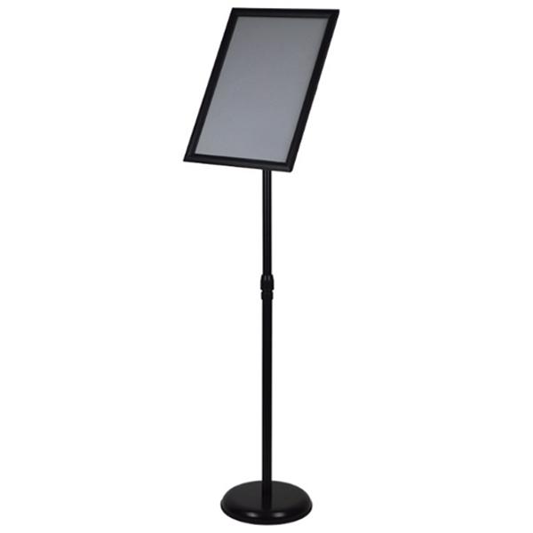 A2 / A3 / A4 Floor Poster Display / Snap Frame Stand Foyer Pedestal / Adjustable Height Sign Holder Menu Black