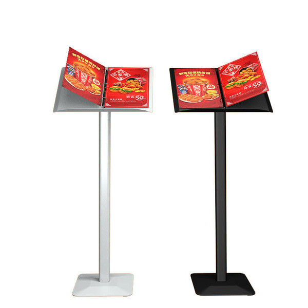 A4 Ring Binder Lectern Stand / Menu Stand / Catalogue Browser Floor Stand / Brochure Stand