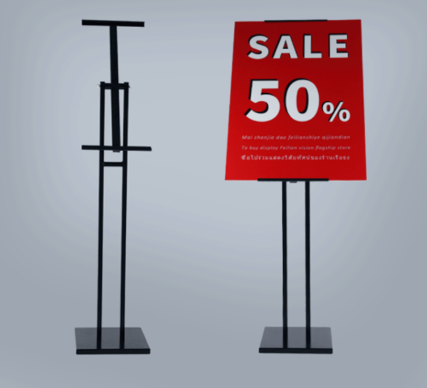 Display Banner board holder tilt adjustable POP Stand