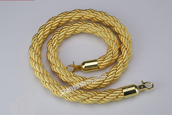 1.5m Stanchion ROPES Gold for Control Post Rope Crowd Queue Line Barrier(Gold end))