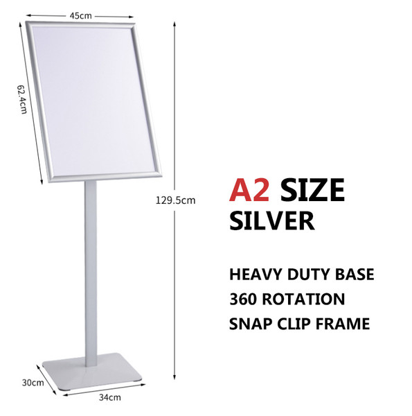 A2 Sign Floor Stand Frame Poster Stand Display Stands Silver
