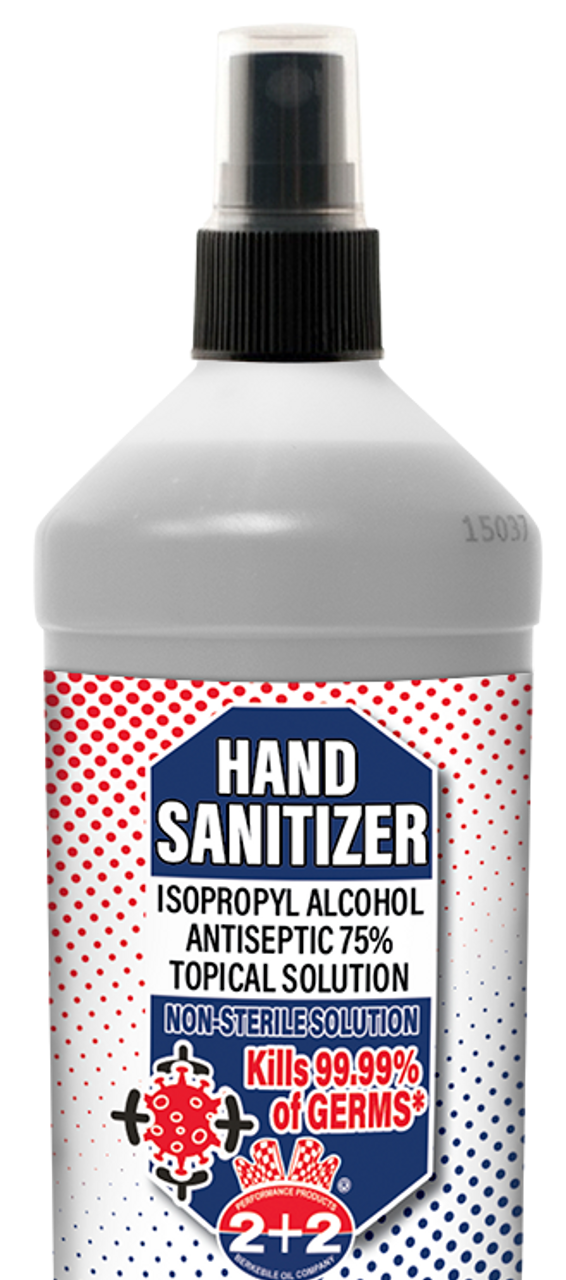 Hand Sanitizer-Isopropyl Alcohol Antiseptic (75%) 12/10 Ounce Case