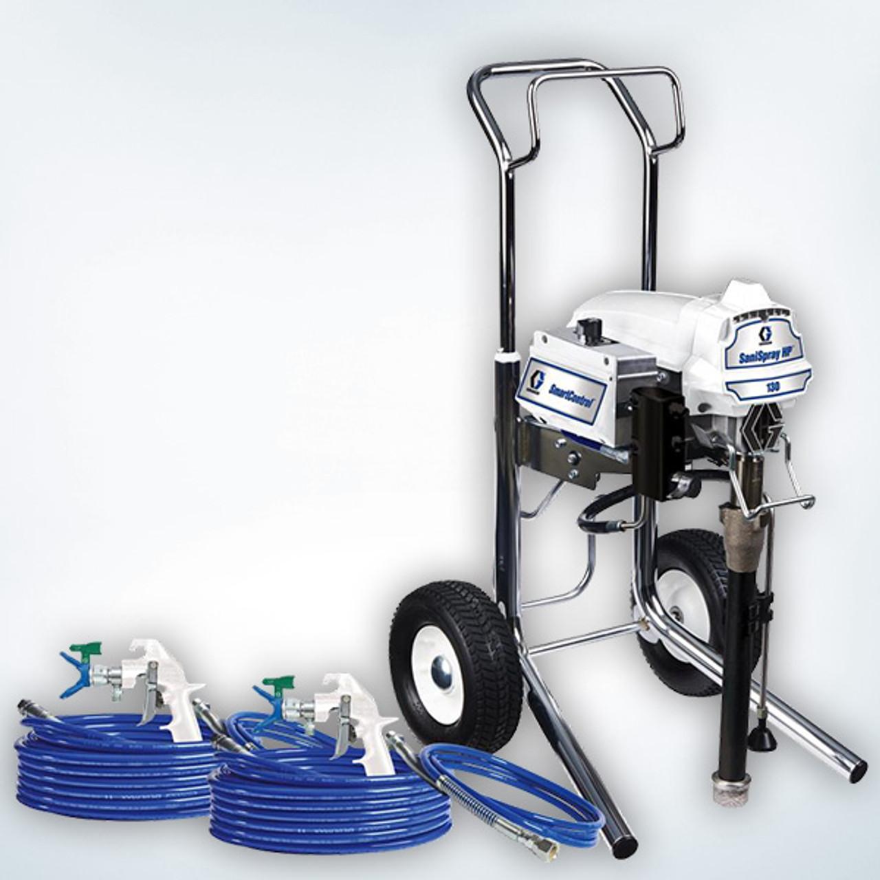 Fluidall SaniSpray HP 130 2-Gun Cart Airless Sprayer