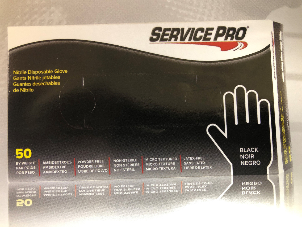 Service Pro Nitrile Disposable Gloves 100 Count -Large