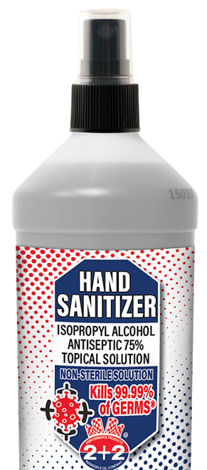 Hand Sanitizer-Isopropyl Alcohol Antiseptic (75%) 12/10 Ounce Case