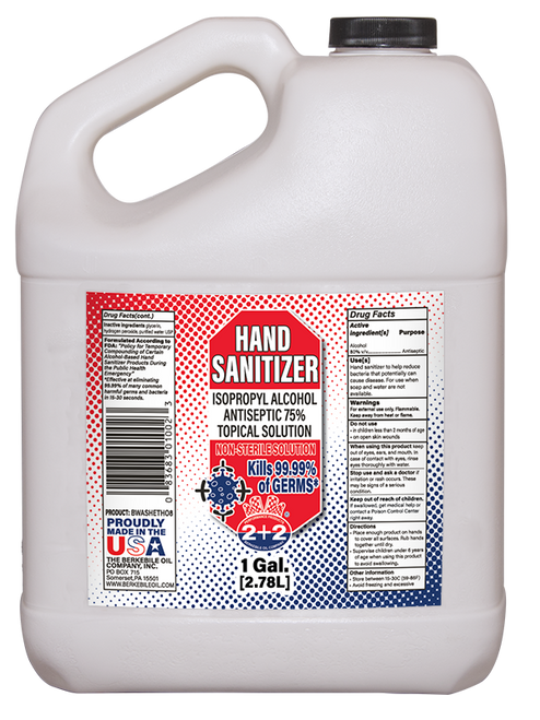 Hand Sanitizer-Isopropyl Alcohol Antiseptic (75%) 4/1 Gallon Case