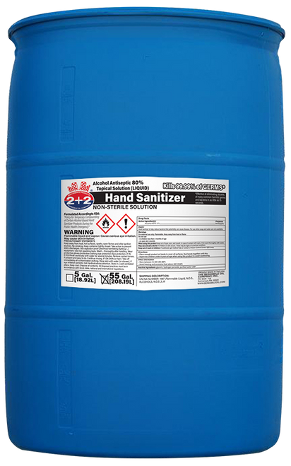 Hand Sanitizer-Ethanol/Alcohol 80% 55 Gallon Drum