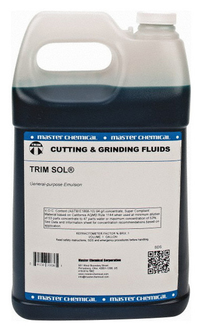 Master Fluid Solutions TRIM SOL General-purpose Emulsion Cutting and Grinding Fluid - 4/1 Gallon Case