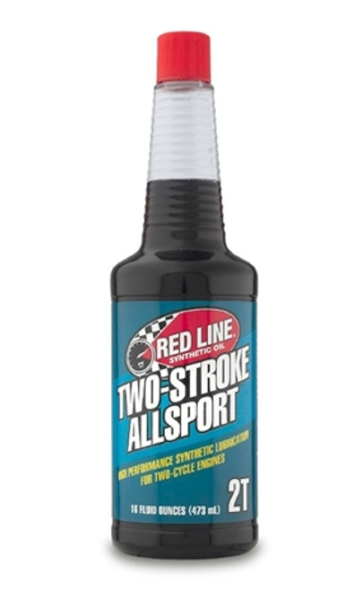 TWO-STROKE ALLSPORT OIL Lower cost for higher consumption, with Red Line cleanliness.