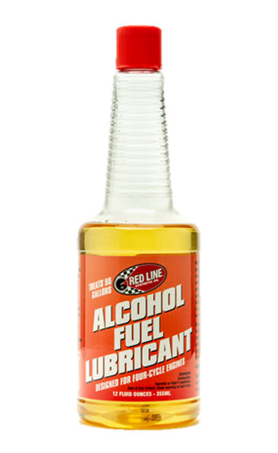 RED LINE ALCOHOL FUEL LUBE This will prevent unnecessary wear and tear on your alcohol fuel engine.