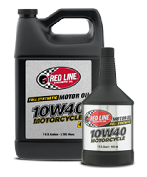RED LINE 10W40 MOTORCYCLE OIL The go-to viscosity for sportsbikes with more antiwear than any other on the market.