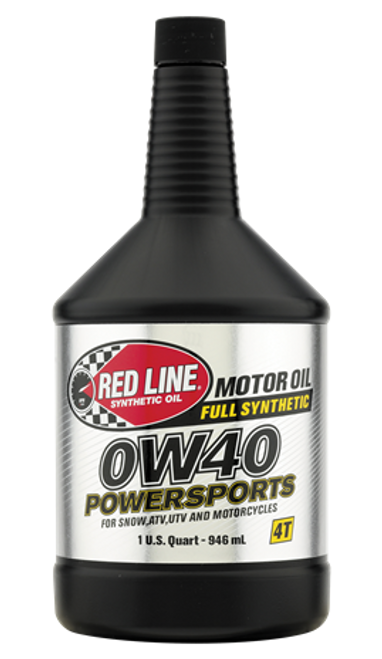 RED LINE 0W40 POWERSPORTS OIL Four-stroke Snowmobiles now feel as special as everyone else.