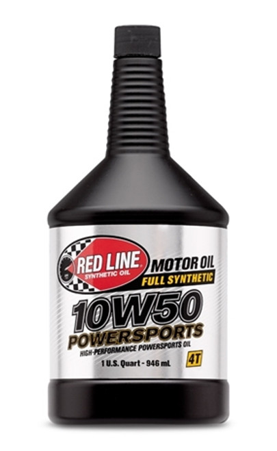 RED LINE 10W50 POWERSPORTS OIL Your UTV wants gnarly protection, but cold-flow sensitivity. This one is listening.