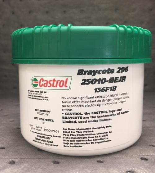Castrol Braycote 296 - Sub-Micronic, Extreme Low Volatility Grease. 1 lb. jar (25010BEJR 156F1B)