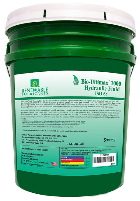 Bio-Ultimax 1000 Hydraulic Fluid, ISO 68