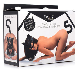 Cat Tail Anal Plug and Mask Set in box