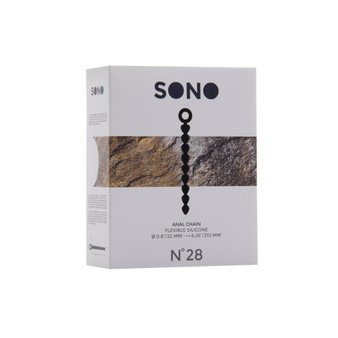 Sono No 28 Silicone Anal Chain Beads in box