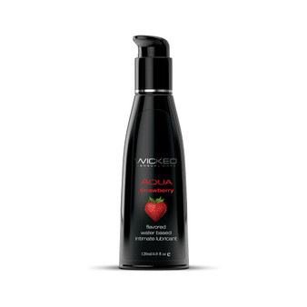 Aqua Strawberry Flavored Lubricant 4 OZ bottle