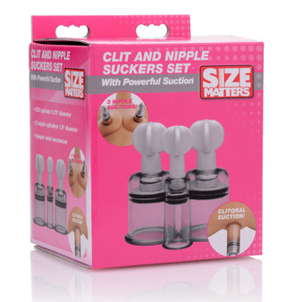 Clit and Nipple Suckers Set in box
