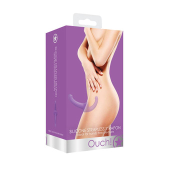 Silicone Strapless Strap On (Purple) in box