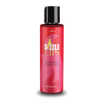 Sizzle Lips Edible Warming Gel Strawberry 4.2 OZ