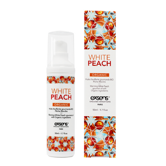 Organic White Peach Warming Intimate Massage Oil