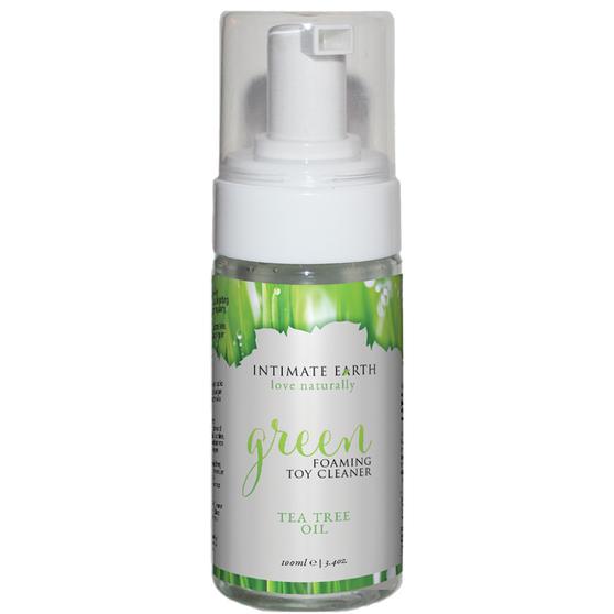 green foam cleaner bottle
