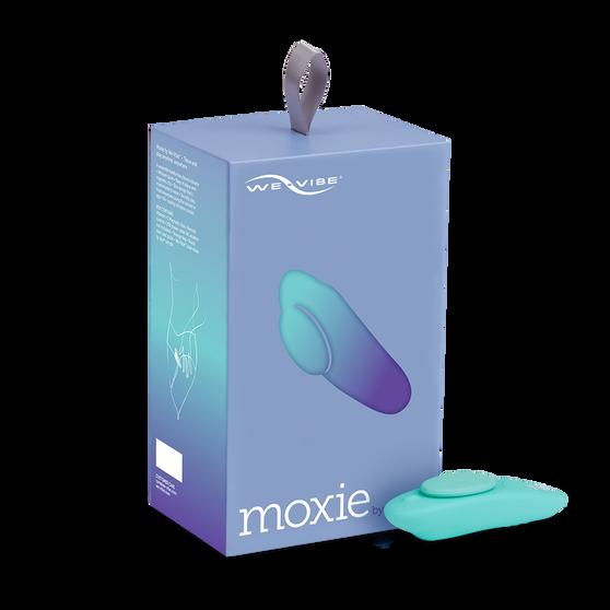 Moxie Wearable Clitoral Stimulator (Aqua) with box